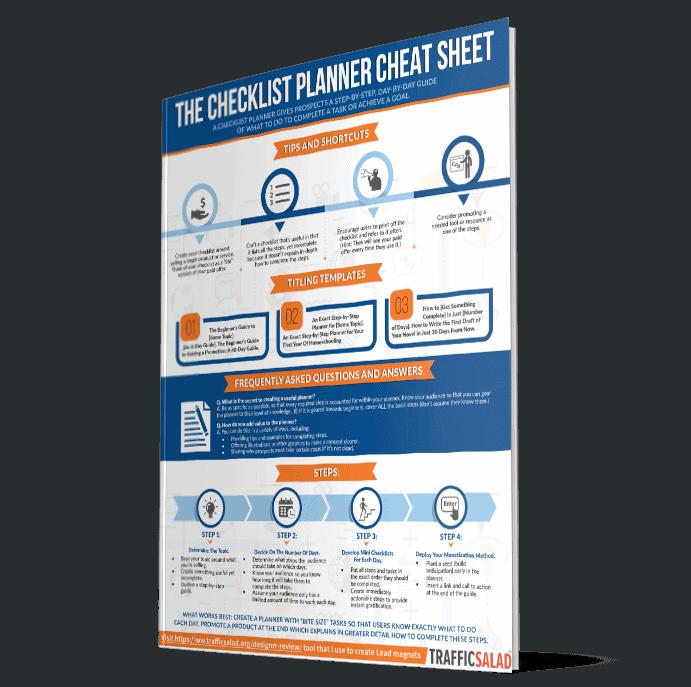 Checklist Planner Cheat sheet
